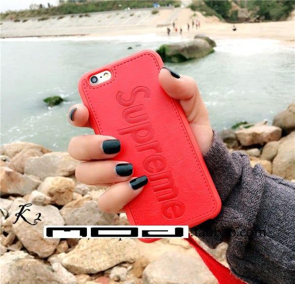 08c9237486d6 Кожаный чехол Supreme для Iphone 6 6S
