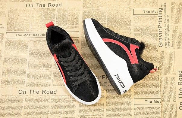 Женские теплые кроссовки на белой подошве купить недорого в интернет ... f3c6c1c4389
