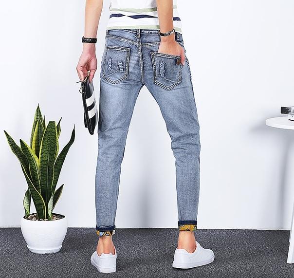 e8825995619 Укороченные мужские приталенные джинсы купить недорого в интернет ...