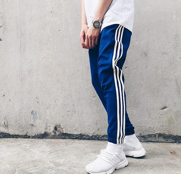 d2dff7aa Мужские спортивные штаны с полосками по бокам купить недорого в ...