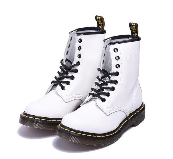e9c38a46156a Высокие ботинки Dr. Martens 1460 белые купить недорого в интернет ...
