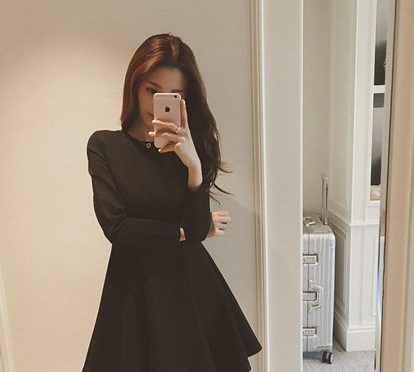 9981385d4d1 Классическое женское платье с длинными рукавами купить недорого в ...