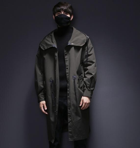 cdadc34eec4 Молодежный мужской свободный и длинный плащ пальто купить недорого в ...