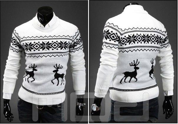 99b214a4ff678 Мужской свитер с оленями купить недорого в интернет-магазине MOD