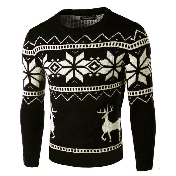 917f3a626fc4b Мужской новогодний свитер с оленями купить недорого в интернет ...