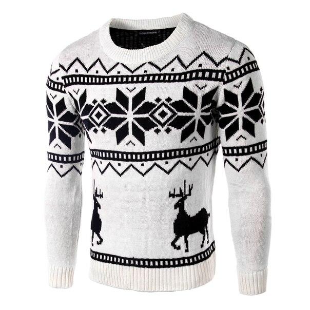 3b40cc5db0a Мужской новогодний свитер с оленями купить недорого в интернет ...