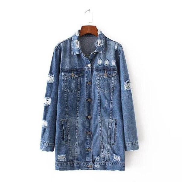 2c6e0633e Длинная женская джинсовая куртка купить недорого в интернет-магазине MOD