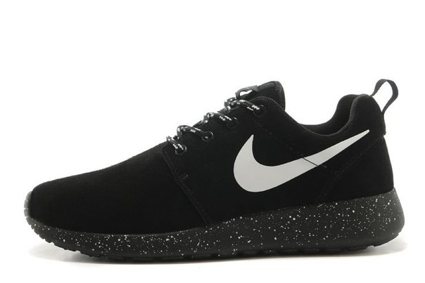 Roshe Run black wash-leather фото