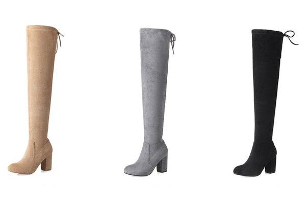 Высокие женские сапоги на высоком каблуке купить недорого в интернет ... c53e64853b1