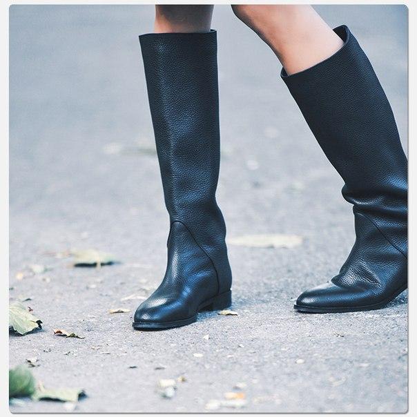 04e1714e Высокие кожаные женские сапоги-ботинки купить недорого в интернет ...