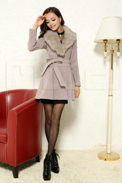 363cf1664e9 Женское пальто с меховым воротником купить недорого в интернет ...