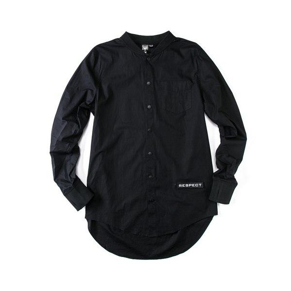 8d32d67caee Длинная черная рубашка Respect купить недорого в интернет-магазине MOD