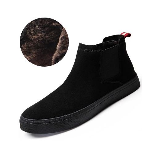 6047efae7 Демисезонные мужские ботинки без шнурков на меху купить недорого в ...