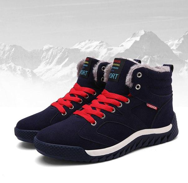 Зимние кроссовки на меху для мужчин купить недорого в интернет ... fe9dc2b5828