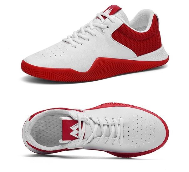 d26600f2 Белые мужские легкие кроссовки кеды с цветным задником купить ...