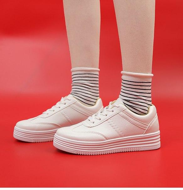Женские кроссовки на высокой подошве купить недорого в интернет ... 50927a04e70