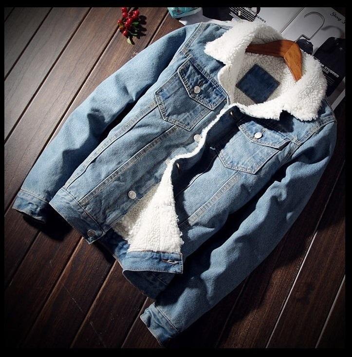 763ea848dac3 Мужская джинсовая куртка на теплой подкладке
