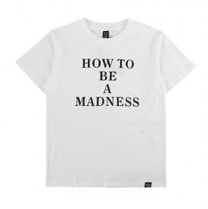 Однотонная футболка HOW TO BE A MADNESS