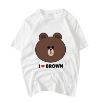 Футболка с медведем I love brown