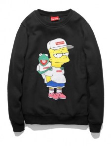 Свитшот Supreme Bart Simpson с жабой
